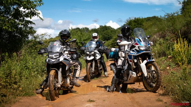 F850GS vs. Africa Twin vs. Tiger 800 | OFF-ROAD Review 1