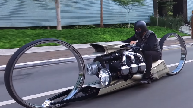 Would you ride this Rolls-Royce 300 HP airplane engine bike? 10