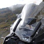 Riding behind a tall wind-screen - Transylvania's hidden villages 14