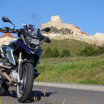Riding behind a tall wind-screen - Transylvania's hidden villages 19