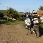 Riding behind a tall wind-screen - Transylvania's hidden villages 2
