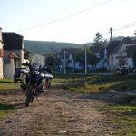 Riding behind a tall wind-screen - Transylvania's hidden villages 4