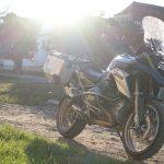 Riding behind a tall wind-screen - Transylvania's hidden villages 8