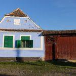 Riding behind a tall wind-screen - Transylvania's hidden villages 12