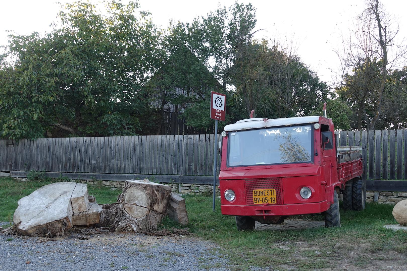 Riding behind a tall wind-screen - Transylvania's hidden villages 3