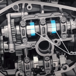 How the BMW R1250 variable cam engine works 4