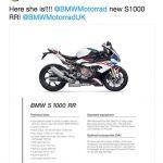 2019 BMW S1000RR Specs Leaked Online 8