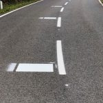 New road markings for motorcyclists. What do you think? 2