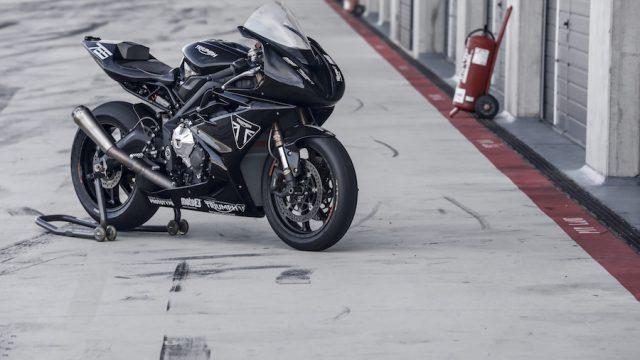 Triumph Daytona Moto2 test bike