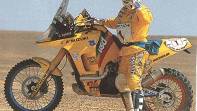 retro suzuki dr big dakar trail riders