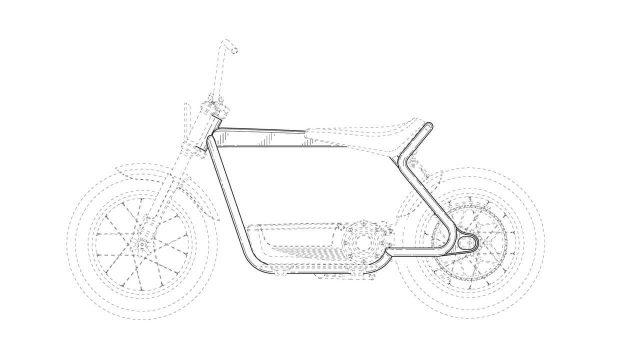 harley davidson electric scooter design filings