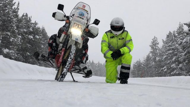 This guy is riding the Extreme Siberia in freezing winter. On a 30 yo motorcycle 1