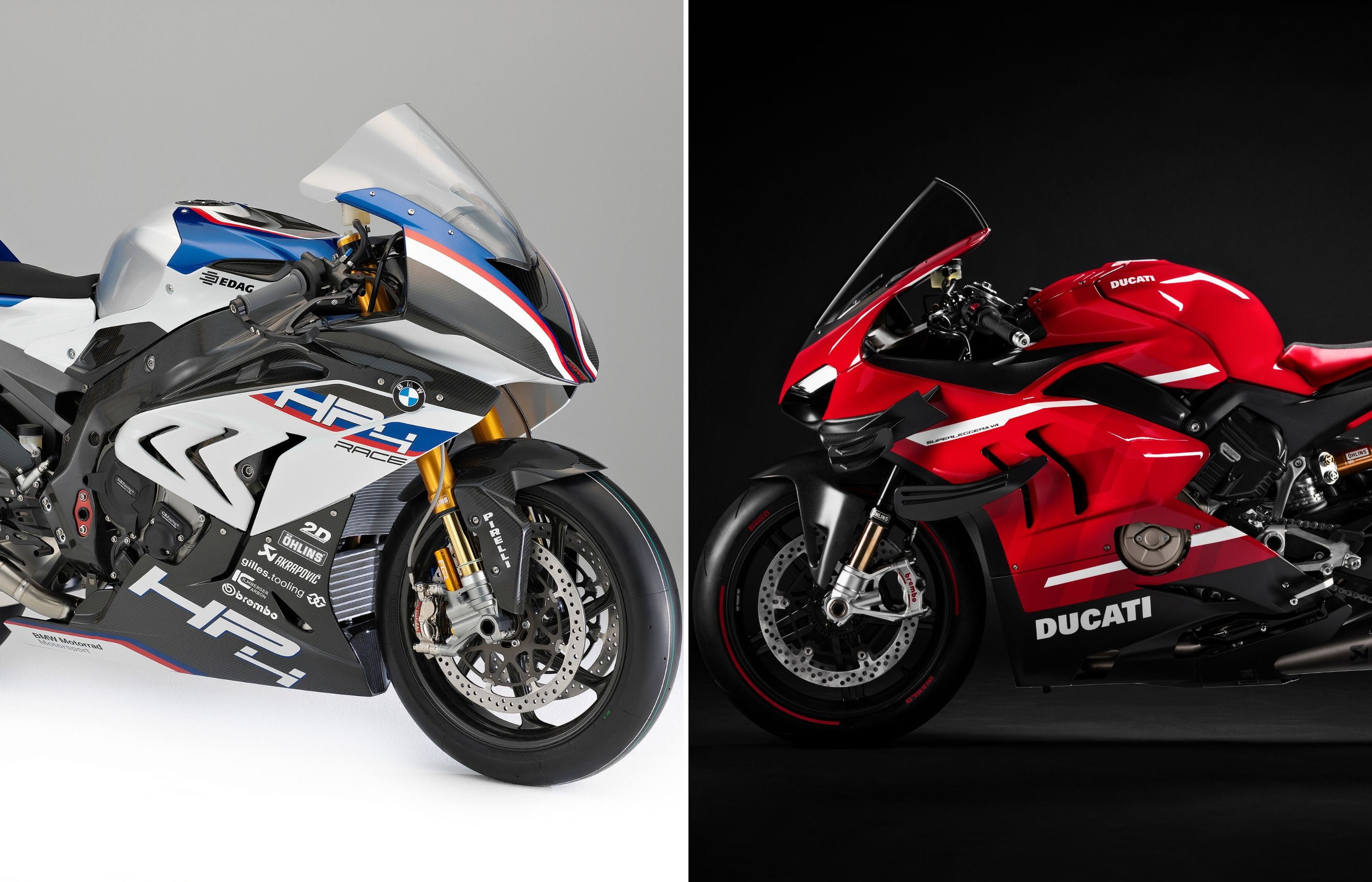 Ducati Superleggera V4 Vs Bmw Hp4 Race A Techspec Comparison Drivemag Riders