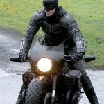 Batman crashes his motorcycle during filming 3