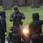 Batman crashes his motorcycle during filming 5