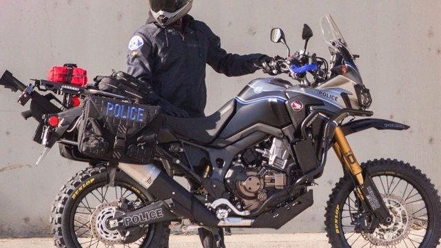 Honda Africa Twin police