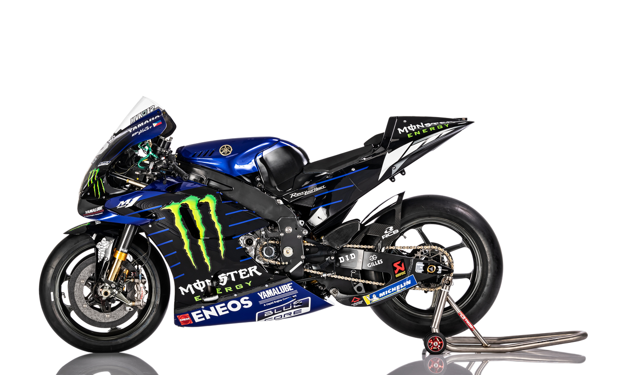 2020 Yamaha Yzr M1 Motogp Bike Launched Rossi S Last Factory Bike Drivemag Riders