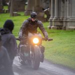 Batman crashes his motorcycle during filming 8
