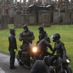 Batman crashes his motorcycle during filming 4