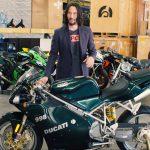 Keanu Reeves rides a Ducati Scrambler in Matrix 4. Leaked photos show 4