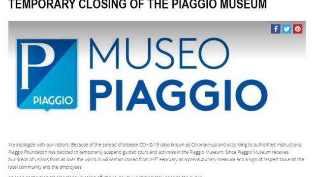 piaggio museum message