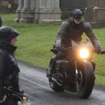 Batman crashes his motorcycle during filming 10