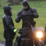Batman crashes his motorcycle during filming 11