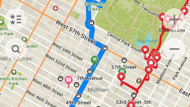 MAPS.ME_Android_App_v9.4.4_Screenshot_with_Car_Route_Built