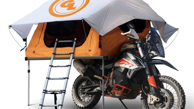 Meet the World's First Motorcycle Roof Tent 1
