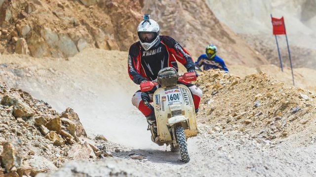 Vespa scooters go offroad racing at Mexico 1000 1