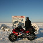 Yamaha R1 goes to the North Pole. Winter adventure ride preparations 14