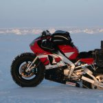 Yamaha R1 goes to the North Pole. Winter adventure ride preparations 3