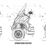 Piaggio Issues Active Aerodynamic Patent. MotoGP Winglets for Scooters 4