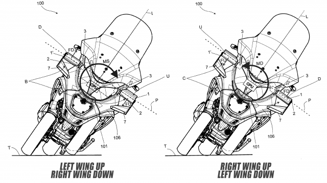 Piaggio Issues Active Aerodynamic Patent. MotoGP Winglets for Scooters 1