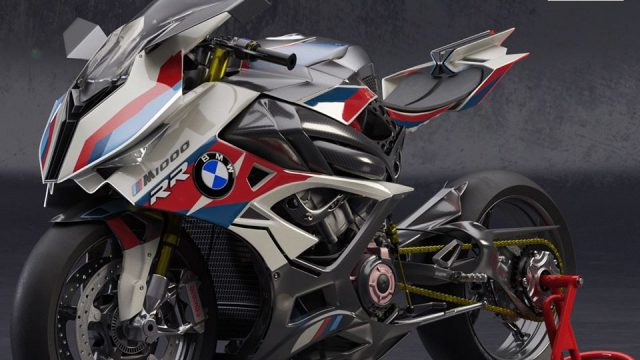 BMW M1000RR. Electric Supercharged Bike Design 2