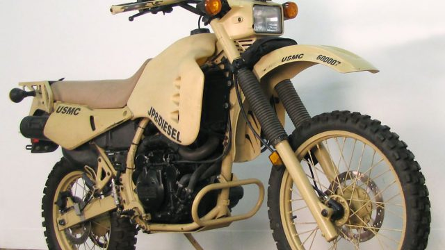 Military Custom Kawasaki KLR650 Converted to Run on Diesel Fuel 1