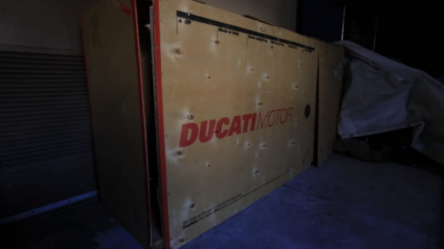 Forgotten new Ducati 996 R Found Abandoned in the Factory Box 1