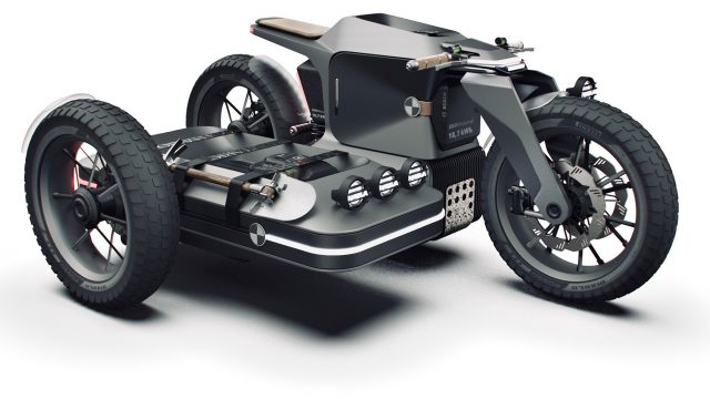 Electric BMW Sidecar Concept. One Design Rendering of a Possible Future 1