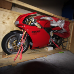 Forgotten new Ducati 996 R Found Abandoned in the Factory Box 4