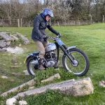 This 86 Year Old Rider Plays with his Trial Motorcycle 8