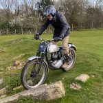 This 86 Year Old Rider Plays with his Trial Motorcycle 7