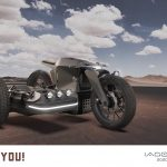 Electric BMW Sidecar Concept. One Design Rendering of a Possible Future 9