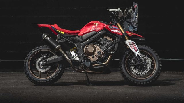 Honda CB650R Rally. Dakar Tribute Adventure Bike 1